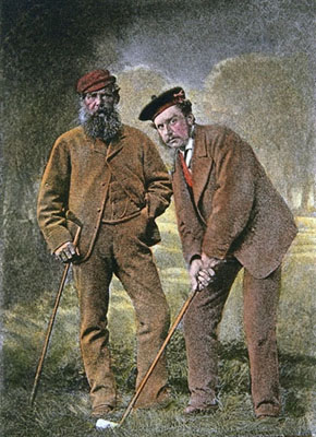 Tom Morris, Sr. and Jr. - Both 4-time British Open Champions (Old Tom: 1861-62,64,67 Young Tom:1868-69-70,72